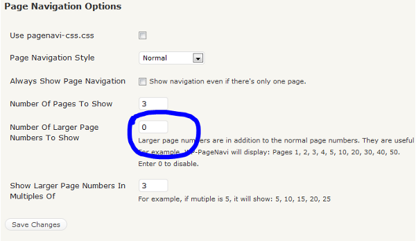 wordpress page navigation options